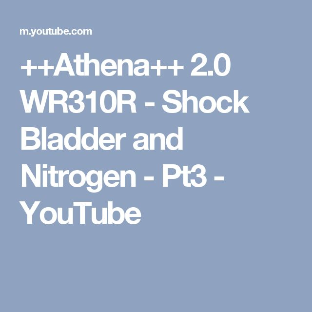 ++Athena++ 2.0 WR310R - Shock Bladder and Nitrogen - Pt3 - YouTube