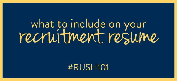 We're continuing our conversation about all things sorority recruitment with today's post on creating the perfect sorority resume for your sorority packet. If you're new to the blog and feeling a little overwhelmed by all the Alpha-Delta-Kappa-Panhellenic terminology, be sure to swing by the first installment of our series: The Recruitment Information Packet.All set? Let's dive right in by breaking down a standard social resume section by section! HEADER Name Address Home Number Cell N...