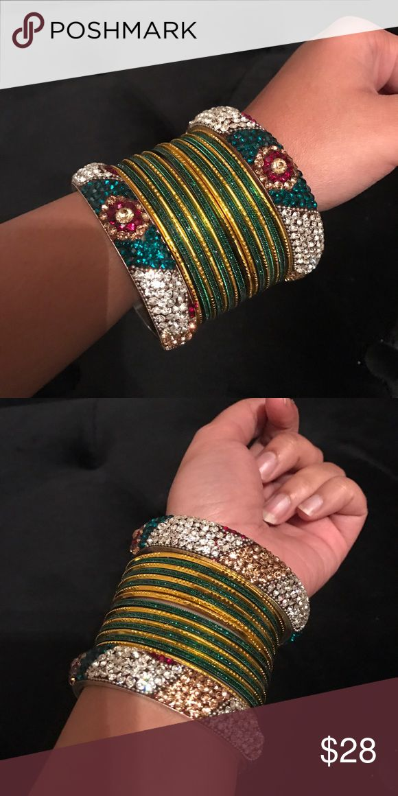 Indian bangles Beautiful traditional Indian bangles. Great condition. Only wore once. Price is firm. Jewelry Bracelets