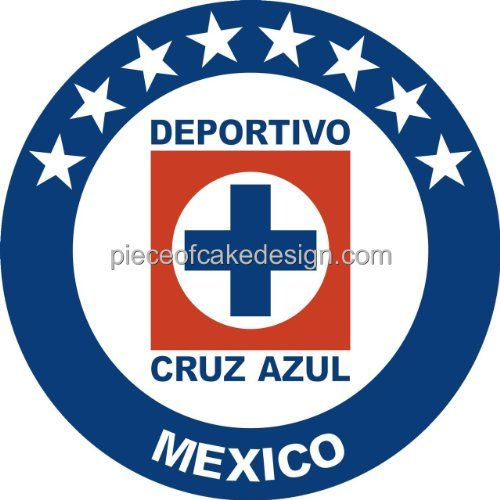 8 Round  Soccer Deportivo Cruz Azul Logo Birthday  Edible Image CakeCupcake Topper ** Learn more by visiting the image link.