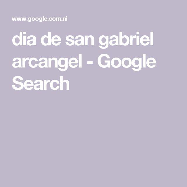 dia de san gabriel arcangel - Google Search