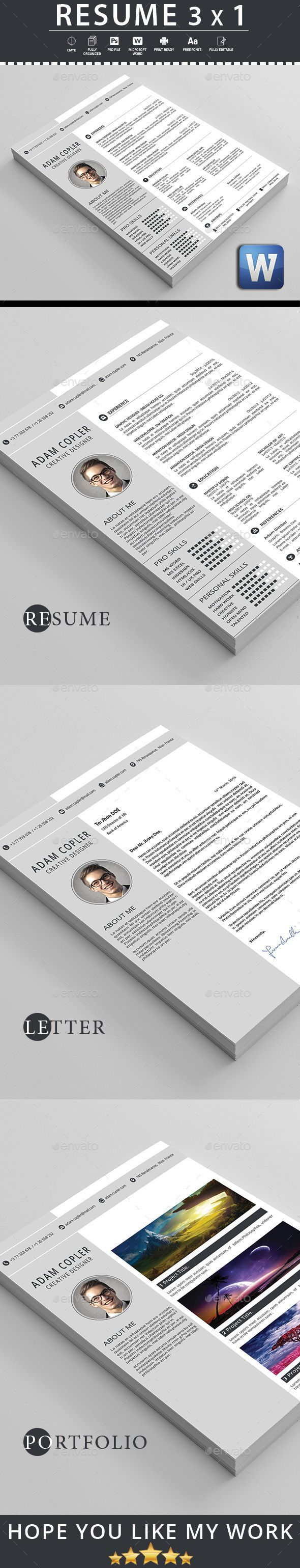 Resume Template 3x1 Resumes Stationery Template