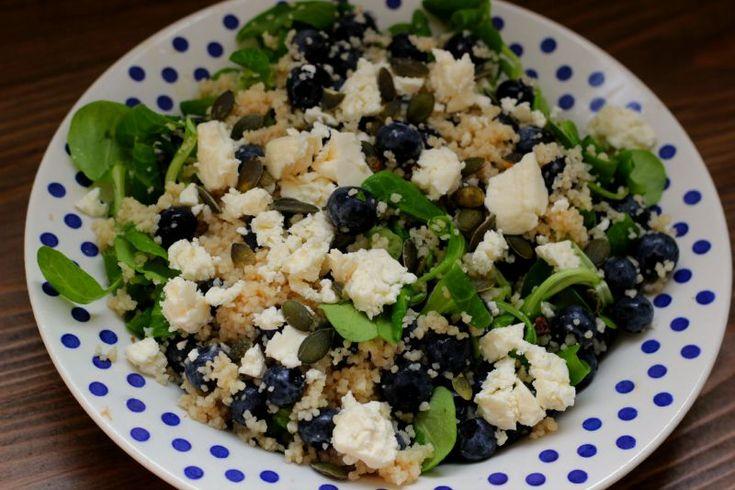 couscous blauwe bessen salade