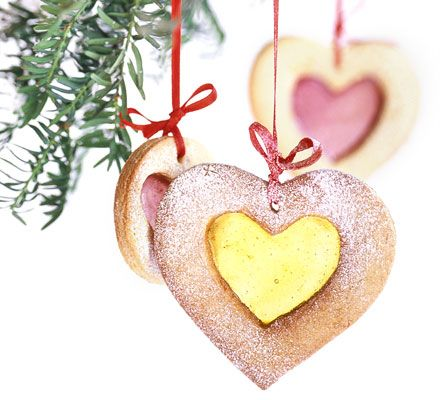 Kids will love to make these magical Christmas biscuits and hang them with pretty ribbon