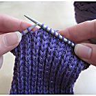 Um padrão de meia simples de malha para iniciantes