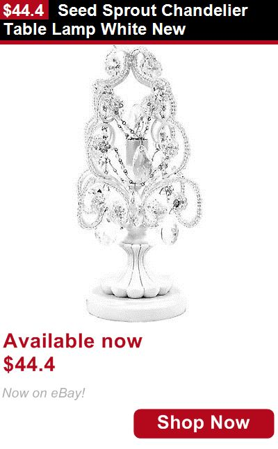 Other Nursery Decor: Seed Sprout Chandelier Table Lamp White New BUY IT NOW ONLY: $44.4