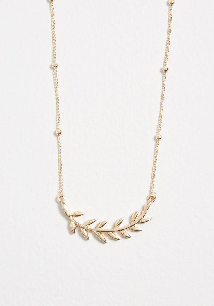Frond Feelings Leaf Necklace | Stitch Fix Insp | Leaf ...