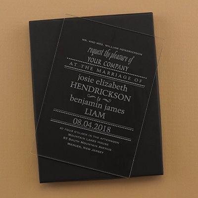 8 best Unusual Wedding Invitations Wood Acrylic Leather images