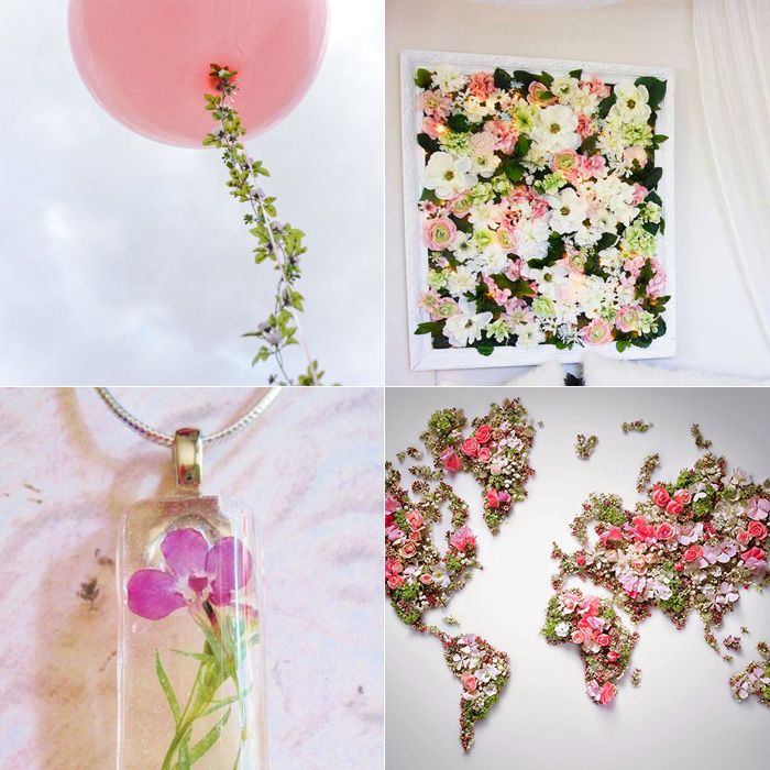 Quadro de flores artificiais. Se fosse feito com flores mais feericas ficaria perfeito!