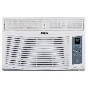 The Haier HWR06XCR 6,000 BTU, 11.0 CEER electronic control air conditioner is perfect for cooling smaller spaces, up to 250 Sq. Ft. Enjoy quiet operation and the convenience of a digital time/temperature display, 24 hour on/off timer and sleep mode. The MagnaClik remote with Braille text attaches magnetically to the side of the unit for easy storage and setup is easy with the Quick-Install Window Kit. This model features 4 Way Air Direction, 3 fan speeds and 3 cool settings plus Aut...