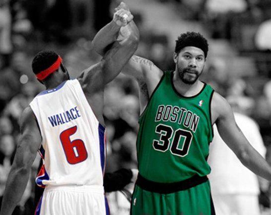 Rasheed Wallace [Boston Celtics] & Ben Wallace [Detroit Pistons] My birthplace and my home!