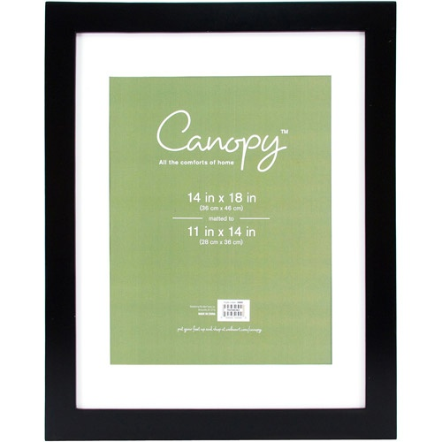 Canopy Flat Gallery 14x18 Matted Picture Frame