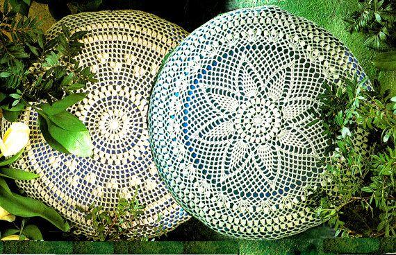 PDF Radiating Popcorn Lacy Cushions Crochet Pattern, Pretty, Rustic, Boho, Heirloom, Home Decorx
