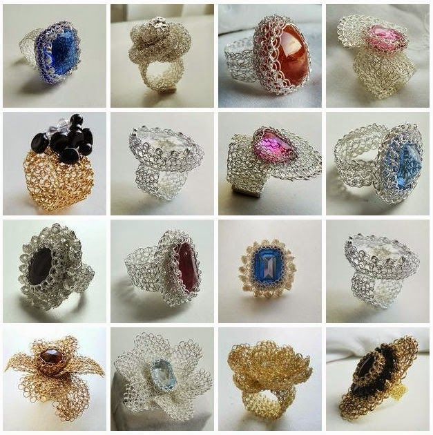 Galeria ~ Joyeria Tejida Crochet en Punto Peruano - Learn Wire Crochet Jewelry