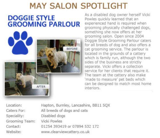 Salon Spotlight May 2012, Doggie Style Grooming Parlour