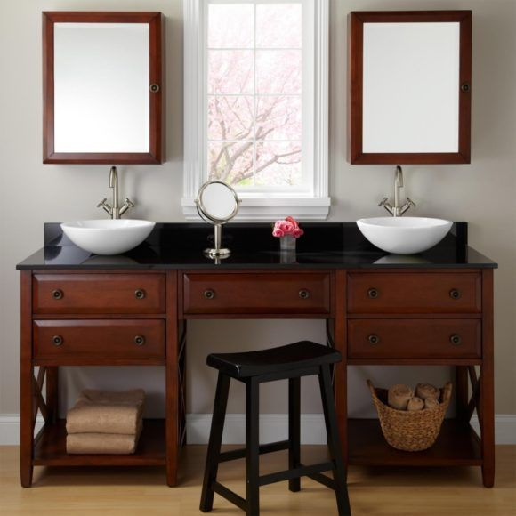Custom Bathroom Vanities With Makeup Area best 20+ wooden bathroom vanity ideas on pinterest | bathroom