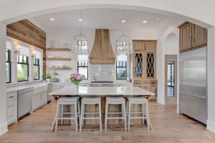 Coastal Kitchen - Old Seagrove Homes