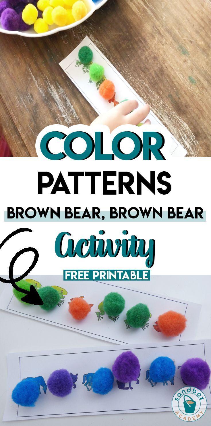 Brown Bear, Brown Bear Color Patterns   Sandbox Academy Patterns for ...