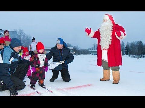 Santa Claus Skiing Competition in Pello in Lapland