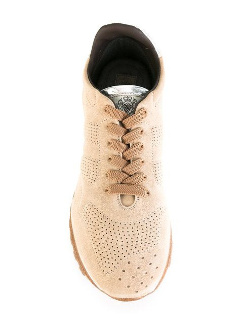 Shop Alberto Fasciani perforated decoration sneakers.