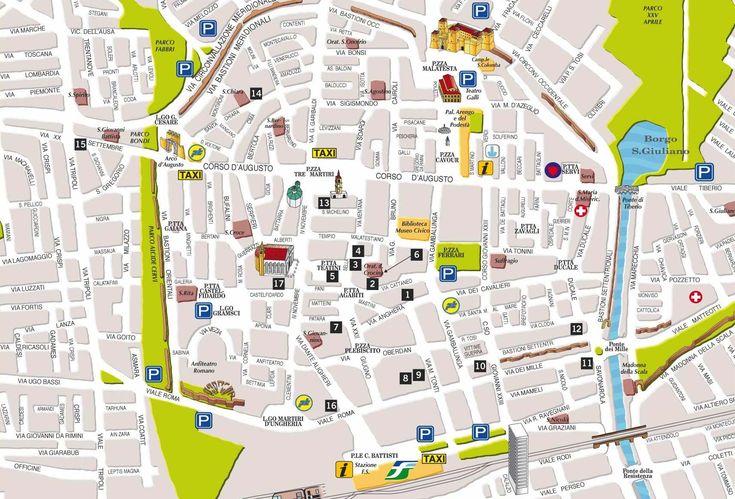 Bologna center map