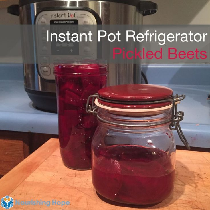 Amazing instant pot refrigerator pickled beets