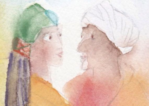 Art print married couple portrait woman with by ESSAYBOGPOESI