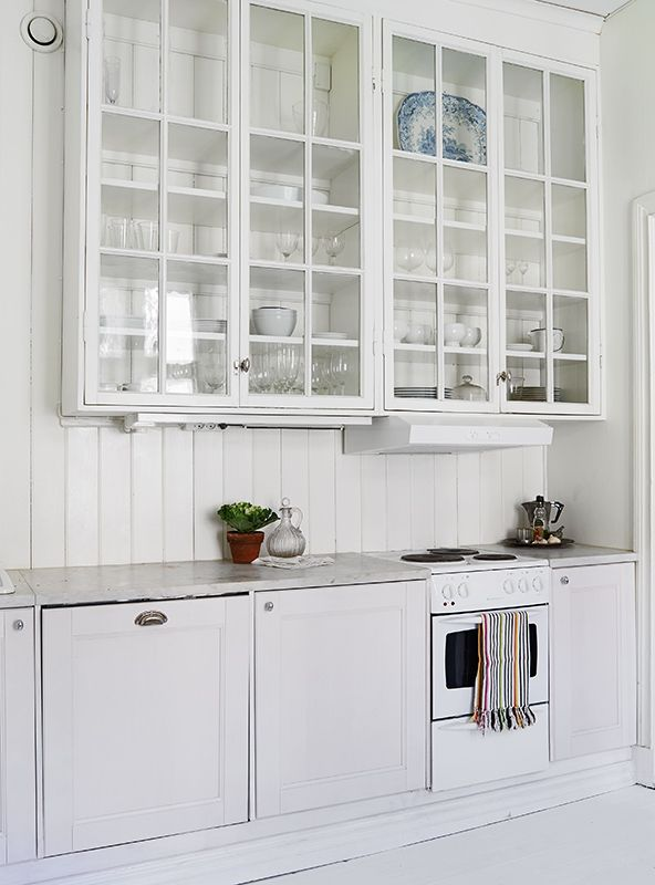 Kitchen//glass Doors.. Upper CabinetsKitchen ...