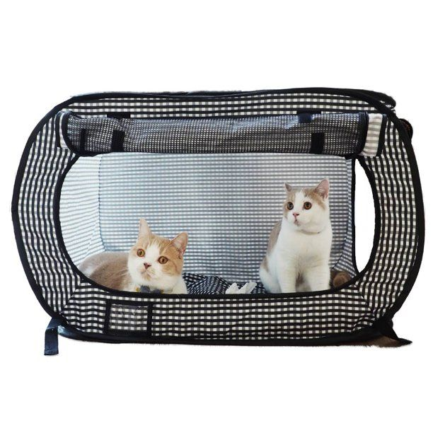 Necoichi Portable Stress Free Cat Cage Walmart Com In 2021 Outdoor Cat Cage Cat Cages Free Cats