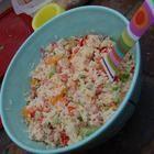 Rezeptbild: Reissalat mit Mandarinen, Schinken und Paprika