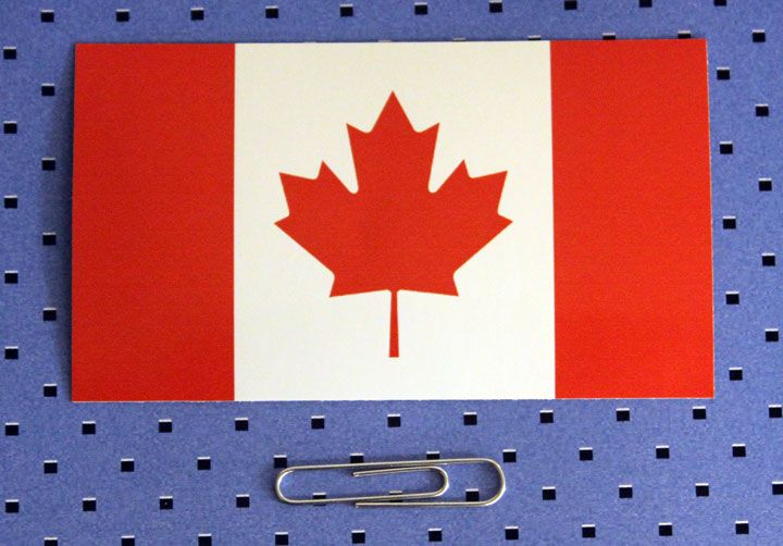 Canada Flag Bumper Sticker is available in the CSM shop, along with many other flag stickers! www.customstickermakers.com