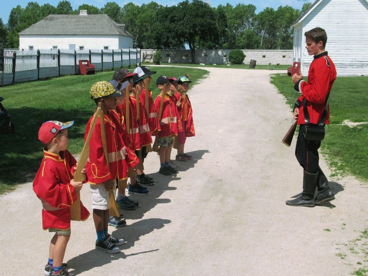 A park interpreter recreates the 1850s by marshalling his troops at Lower Fort Garry National Historic Site on the Red River in Manitoba, Canada.