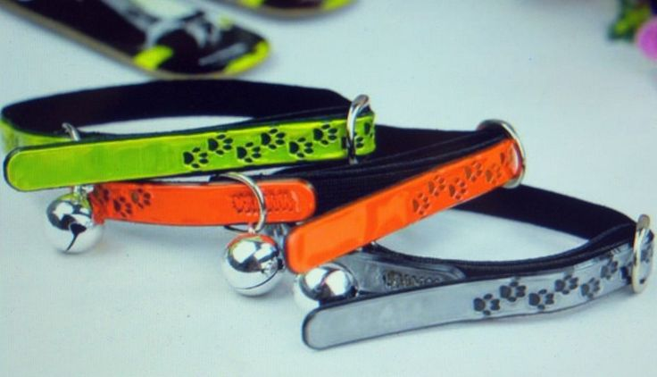REFLECTIVE CAT COLLAR with BELL & SAFETY ELASTIC #panda