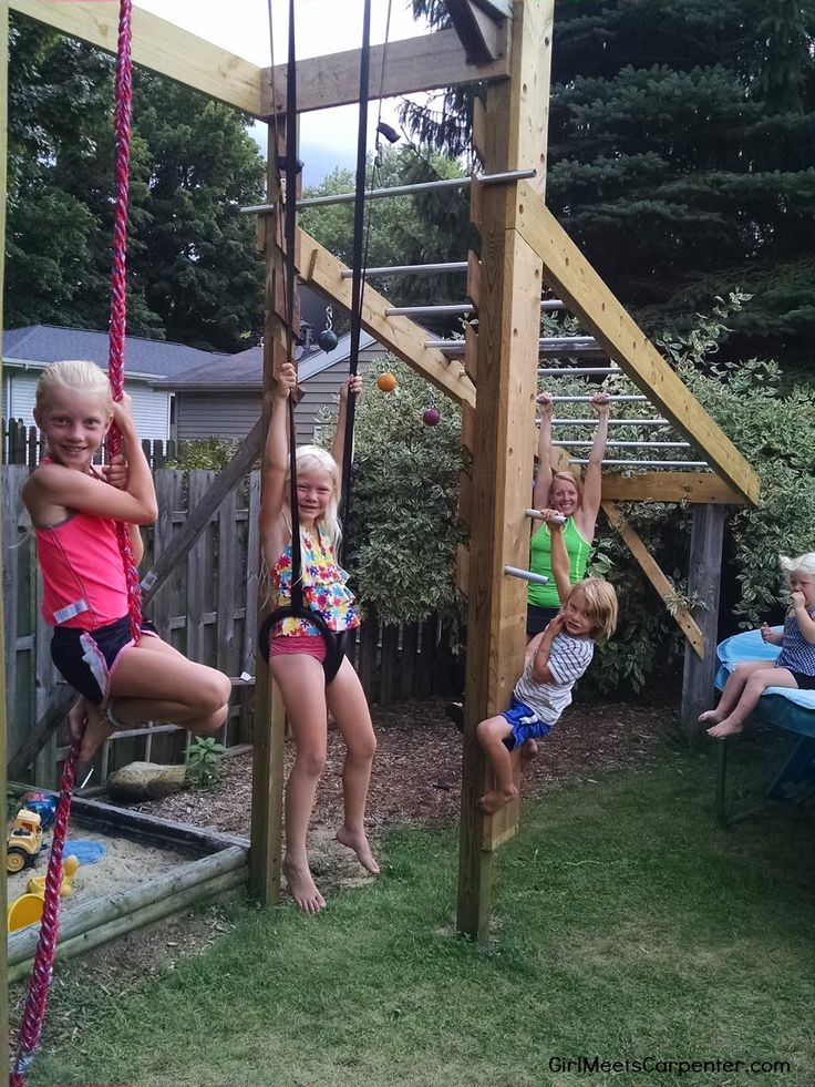 Backyard American Ninja Warrior Obstacle Course Is Fun For All Ages, By Girl Meets Carpenter Featured On @Remodelaholic