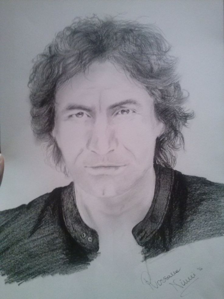 Luciano Ligabue drawing