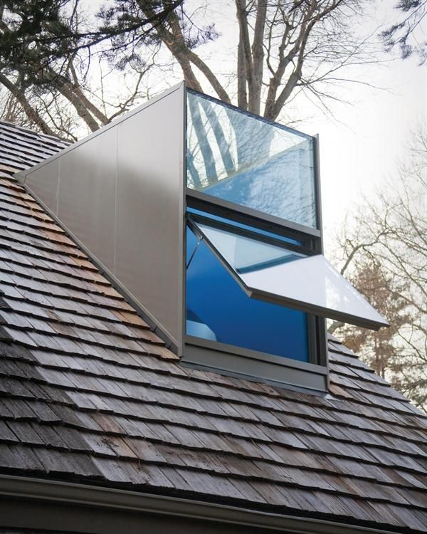 Dormer ceiling window. The dormers bottom section is an operable window.