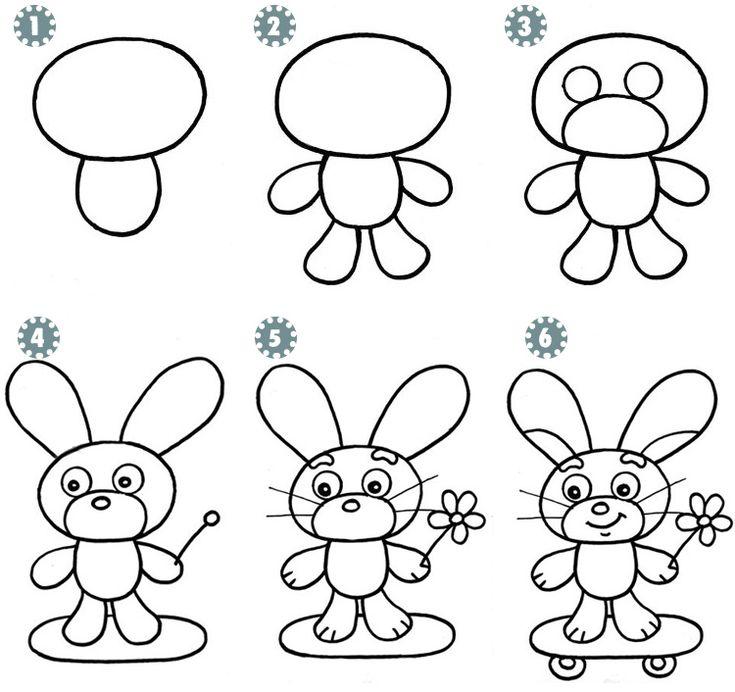 Простые картинки карандашом учимся рисовать