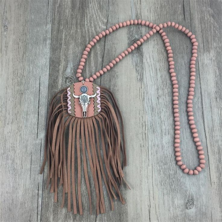 Handmade Ethnic Necklace | Tribal Necklace | Ox Skull Bohemian Necklace