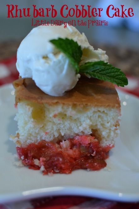 Rhubarb Cobbler Using Cake Mix