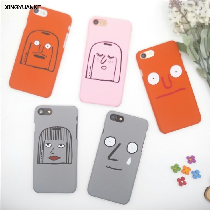 1.44$  Buy here - Lovely Cartoon Smile Emoji Case For iphone 7 Case Funny Graffiti Hard PC Phone Cases Cover For iphone7 7 Plus 6 6S 5 5S NEW   #magazineonlinebeautiful