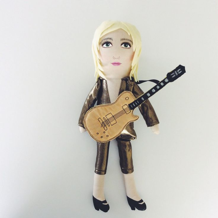 New in store :: Mick Ronson artdoll with guitar!  Spiders from mars, David Bowie, 1970s