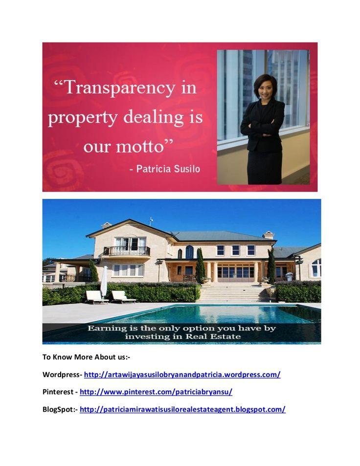 Patricia susilo   real estate bussinesswoman by PatriciaSusilo07 via slideshare