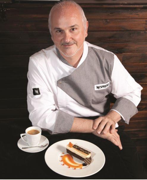 El chef patissier Osvaldo Gross creó un postre de chocolate para degustar con café Nespresso