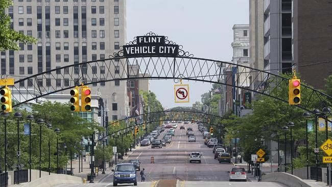 As Detroit hopes to ride out of bankruptcy this year, a smaller Michigan city with a simi