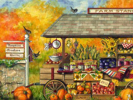 'Bucks County Farm Stand' by Janet Stever