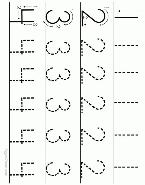 Alphabet Worksheets for Preschoolers | Printable number tracing worksheet for preschoolers. Print and let ...