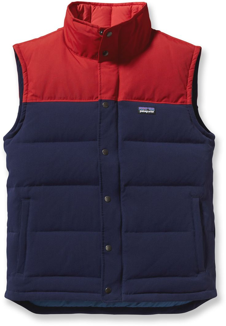 Limber yet sturdy vest is made of water-resistant quilted nylon canvas. In the sea of vests, this one stands out.