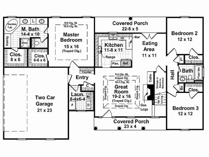 Image result for 1800 sq ft 4 bedroom split bedroom plan