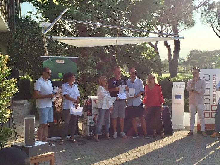 Edilpiù - Porte e finestre | Premiazione sotto la nostra vela all'Adriatic Golf Club di Cervia - Edilpiù - Porte e finestre