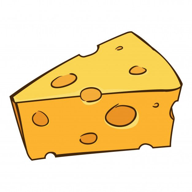 Dibujos animados de queso Vector Premium | cosas in 2019 ...
